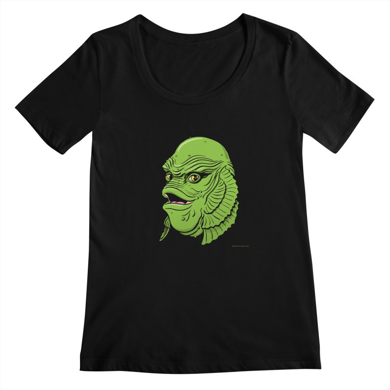 Happy Creature Women's Scoopneck by Manly Art's Tee Shop