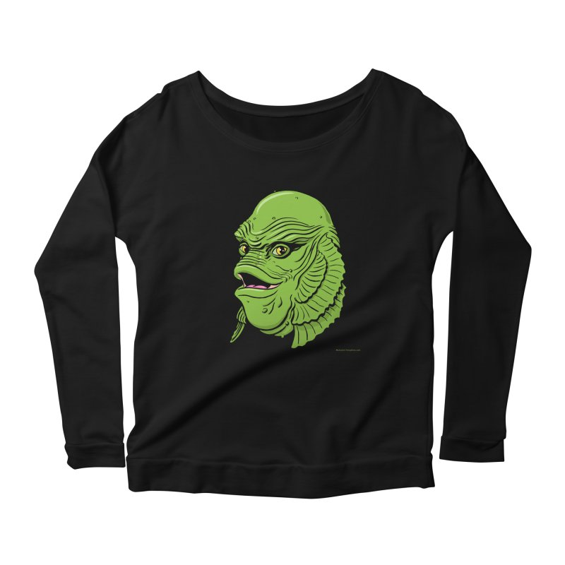 Happy Creature Women's Longsleeve Scoopneck  by Manly Art's Tee Shop