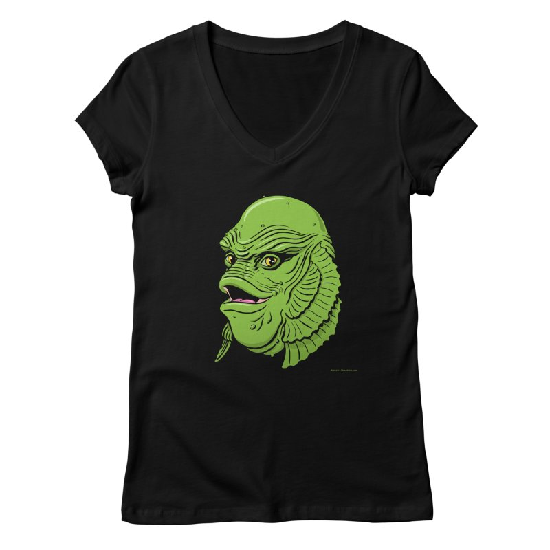 Happy Creature Women's V-Neck by Manly Art's Tee Shop