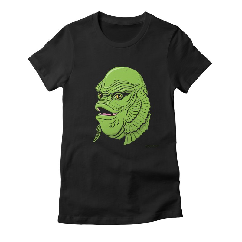 Happy Creature Women's Fitted T-Shirt by Manly Art's Tee Shop