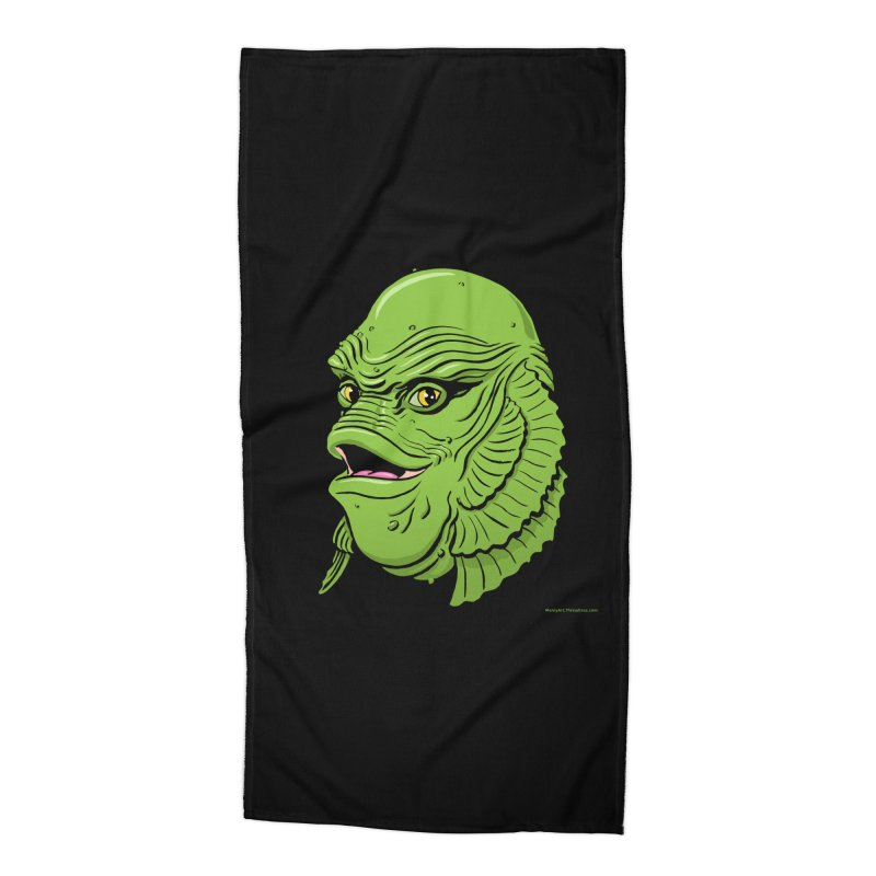 Happy Creature Accessories Beach Towel by Manly Art's Tee Shop