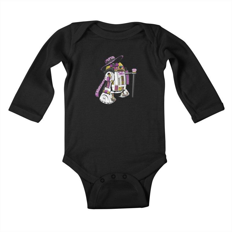 Pimp2-D2 Kids Baby Longsleeve Bodysuit by Manly Art's Tee Shop