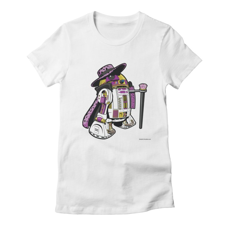 Pimp2-D2 Women's Fitted T-Shirt by Manly Art's Tee Shop