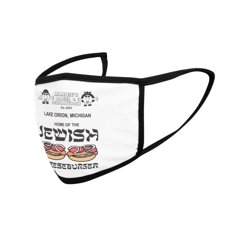 JEWISH CHEESEBURGER Accessories Face Mask by Mannie's Bagel & Delicatessen Merch Shop