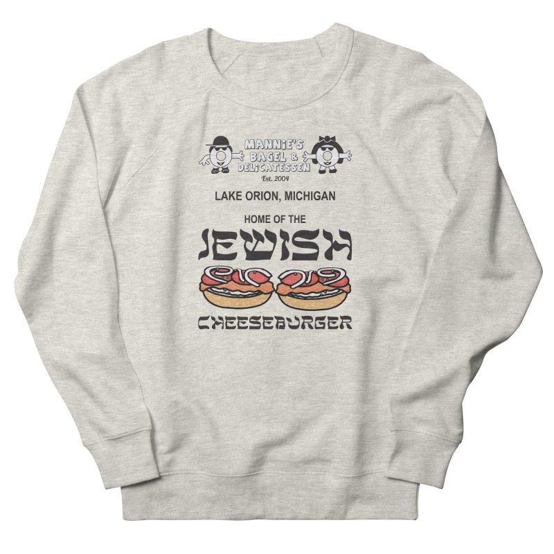 JEWISH CHEESEBURGER Women's Sweatshirt by Mannie's Bagel & Delicatessen Merch Shop