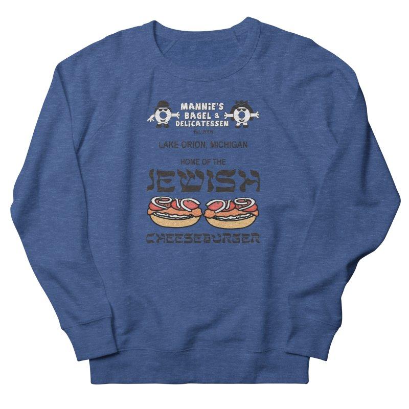 JEWISH CHEESEBURGER Men's Sweatshirt by Mannie's Bagel & Delicatessen Merch Shop