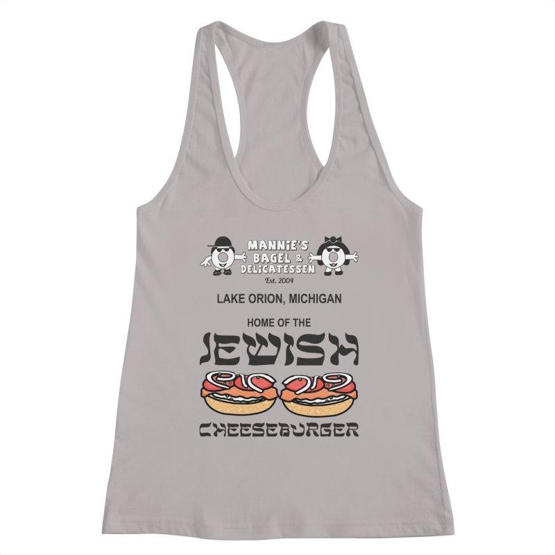 JEWISH CHEESEBURGER Women's Tank by Mannie's Bagel & Delicatessen Merch Shop