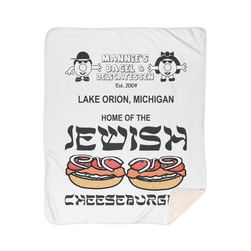 JEWISH CHEESEBURGER Home Blanket by Mannie's Bagel & Delicatessen Merch Shop