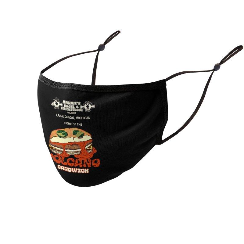VOLCANO SANDWICH Accessories Face Mask by Mannie's Bagel & Delicatessen Merch Shop