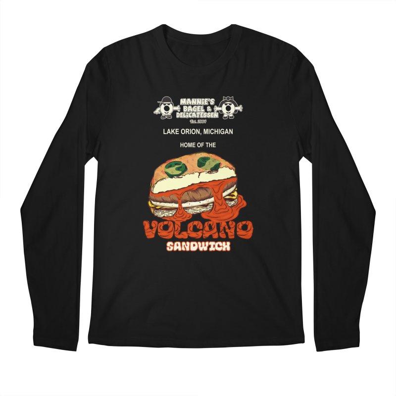 VOLCANO SANDWICH Men's Longsleeve T-Shirt by Mannie's Bagel & Delicatessen Merch Shop