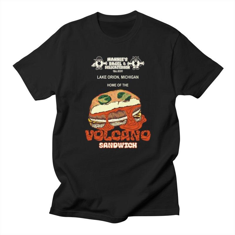 VOLCANO SANDWICH Men's T-Shirt by Mannie's Bagel & Delicatessen Merch Shop