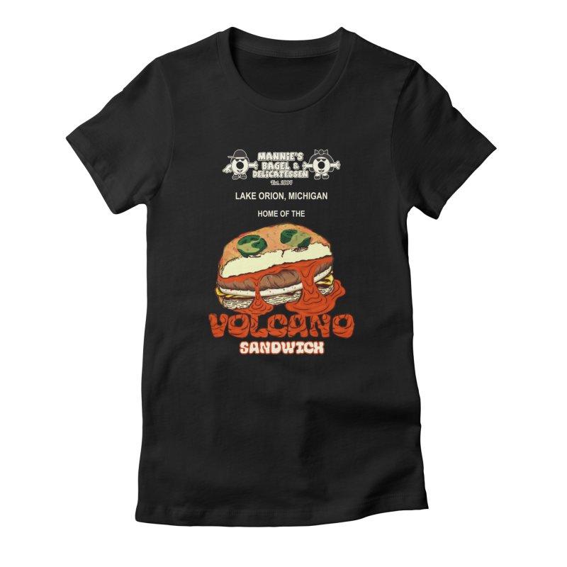 VOLCANO SANDWICH Women's T-Shirt by Mannie's Bagel & Delicatessen Merch Shop