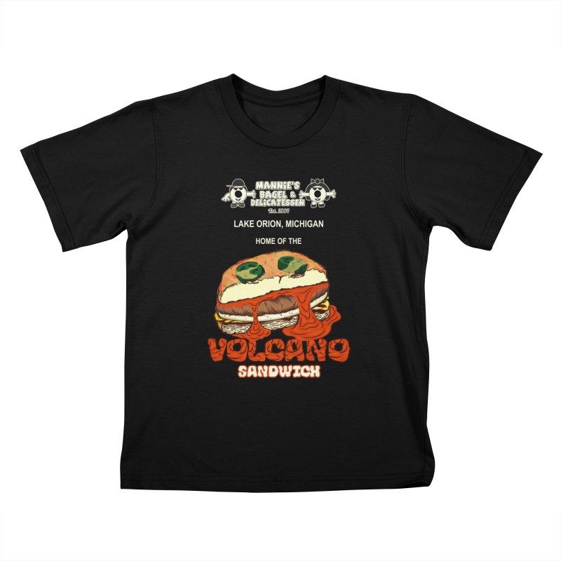 VOLCANO SANDWICH Kids T-Shirt by Mannie's Bagel & Delicatessen Merch Shop