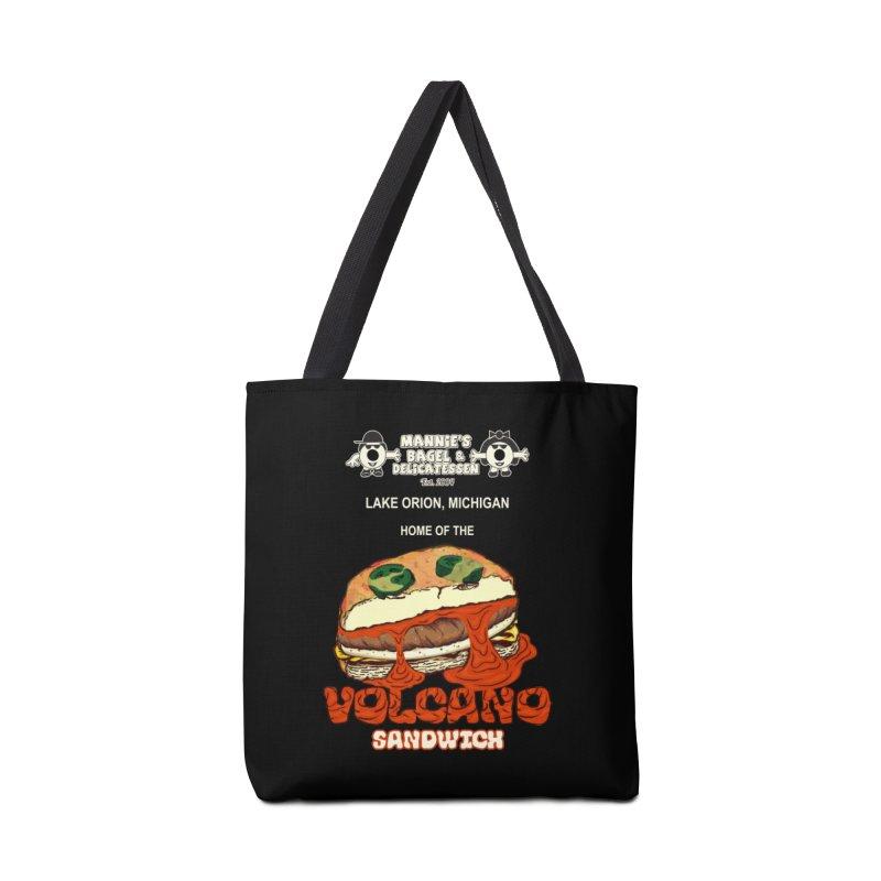 VOLCANO SANDWICH Accessories Bag by Mannie's Bagel & Delicatessen Merch Shop