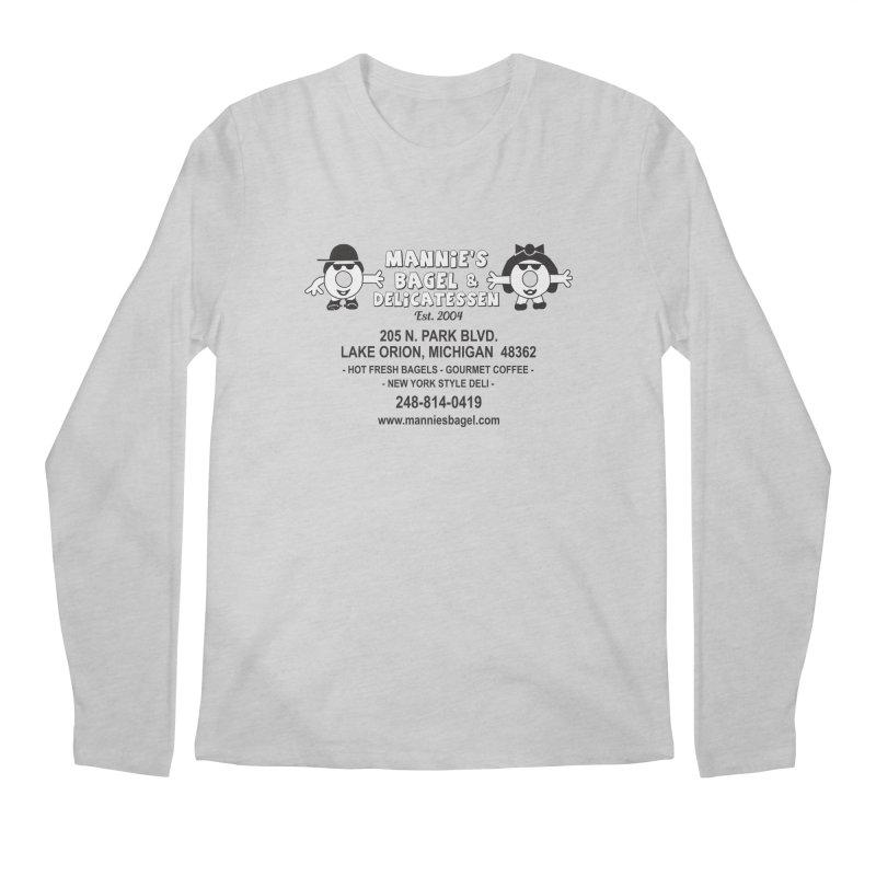 MANNIE'S LOGO Men's Longsleeve T-Shirt by Mannie's Bagel & Delicatessen Merch Shop
