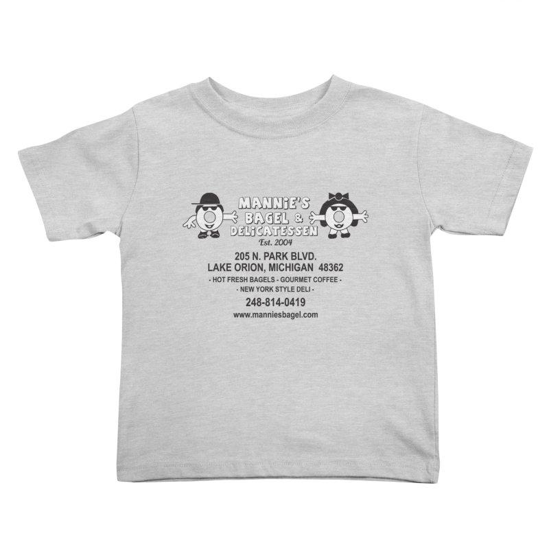 MANNIE'S LOGO Kids Toddler T-Shirt by Mannie's Bagel & Delicatessen Merch Shop