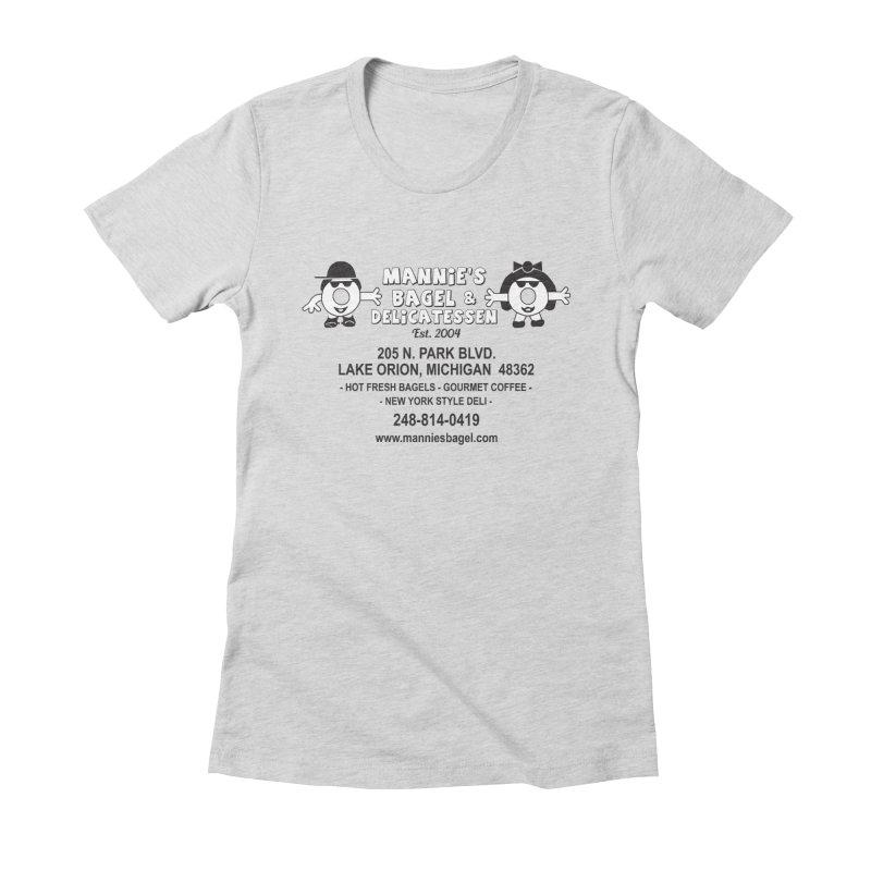 MANNIE'S LOGO Women's T-Shirt by Mannie's Bagel & Delicatessen Merch Shop