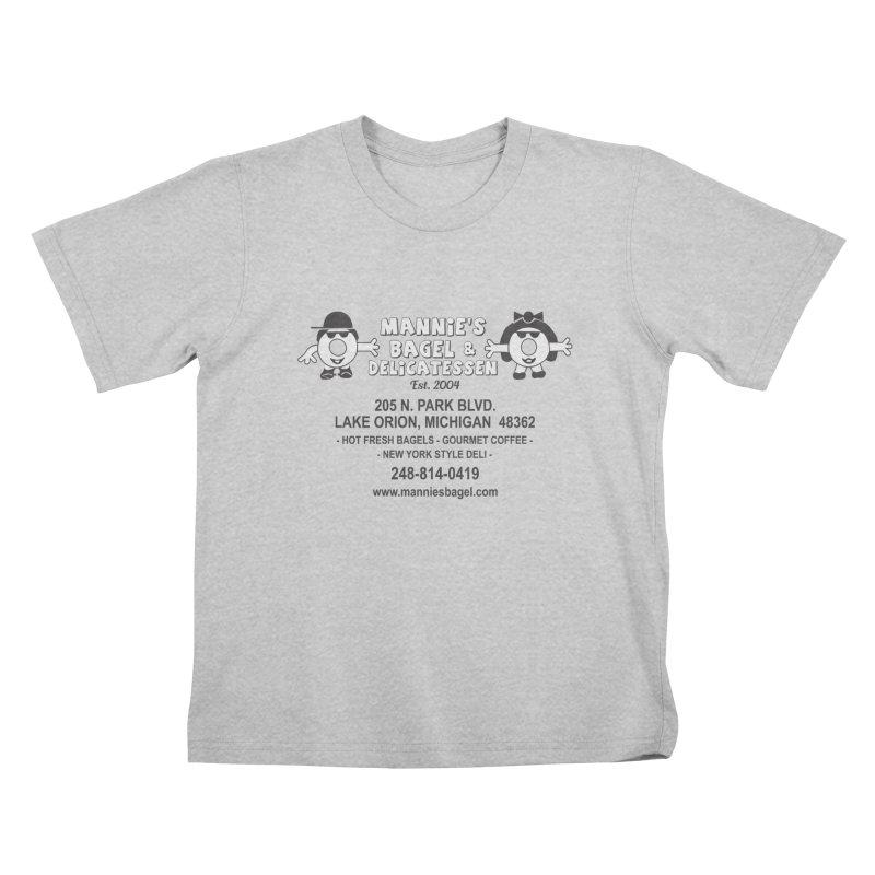 MANNIE'S LOGO Kids T-Shirt by Mannie's Bagel & Delicatessen Merch Shop