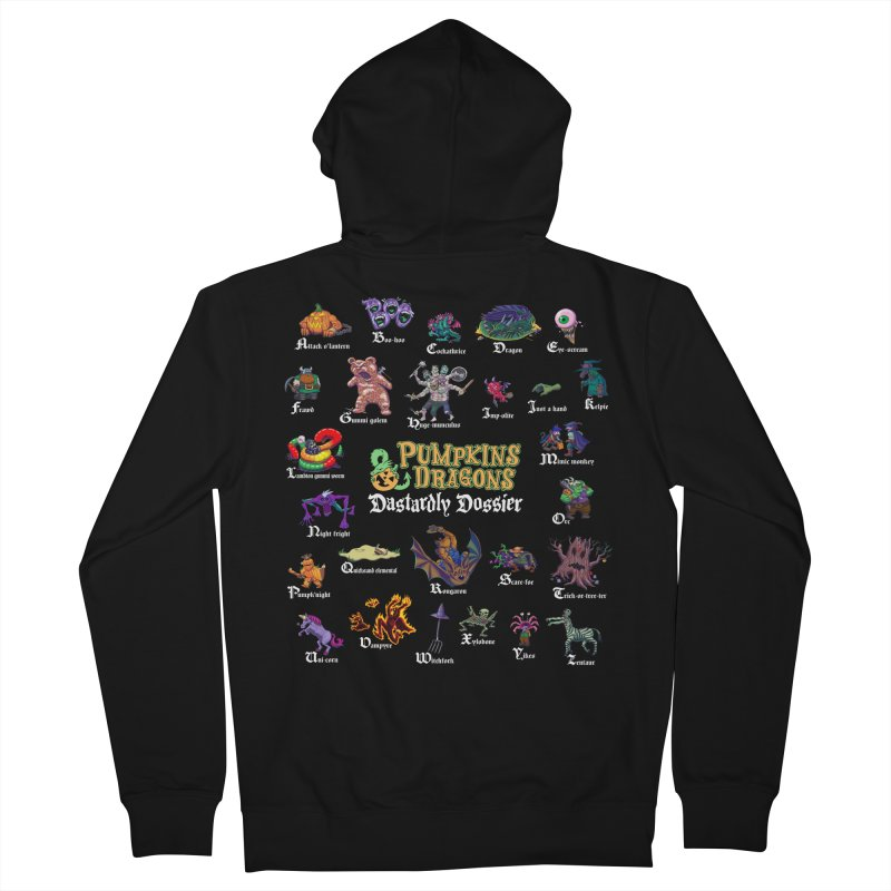 Dastardly Dossier A-Z Men's Zip-Up Hoody by Manning Krull's Artist Shop