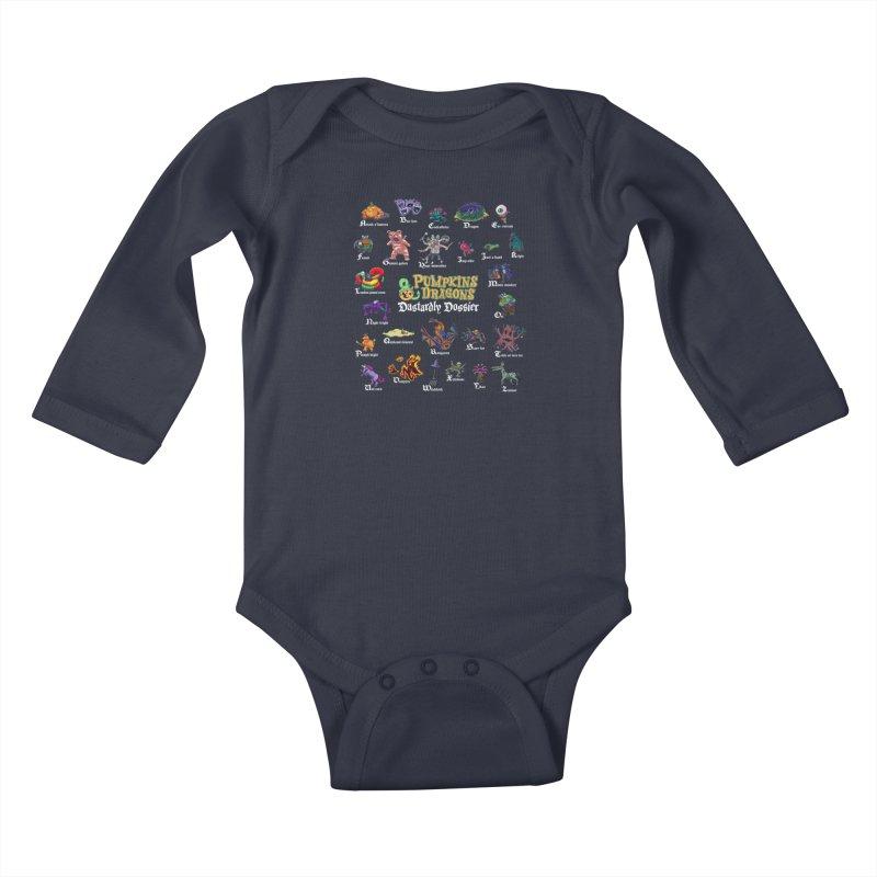 Dastardly Dossier A-Z Kids Baby Longsleeve Bodysuit by Manning Krull's Artist Shop