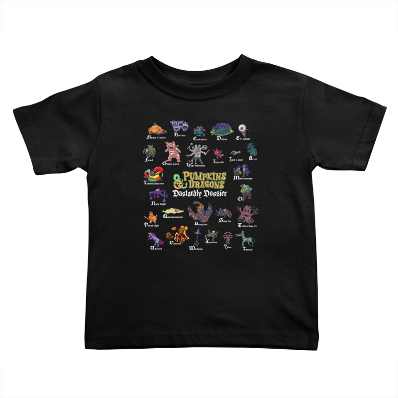 Dastardly Dossier A-Z Kids Toddler T-Shirt by Manning Krull's Artist Shop