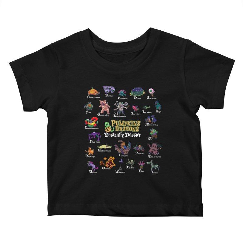 Dastardly Dossier A-Z Kids Baby T-Shirt by Manning Krull's Artist Shop