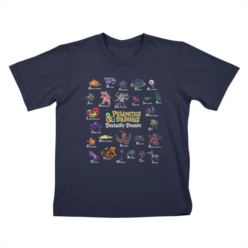 Dastardly Dossier A-Z Kids T-Shirt by Manning Krull's Artist Shop