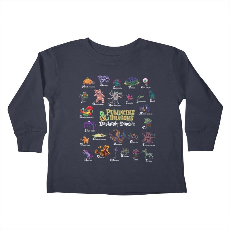 Dastardly Dossier A-Z Kids Toddler Longsleeve T-Shirt by Manning Krull's Artist Shop