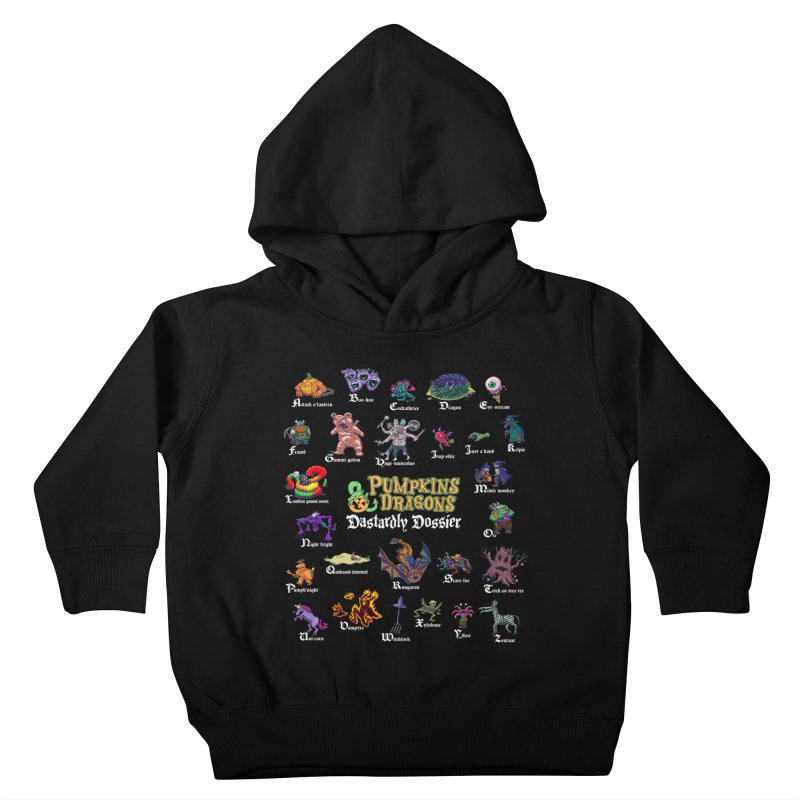 Dastardly Dossier A-Z Kids Toddler Pullover Hoody by Manning Krull's Artist Shop