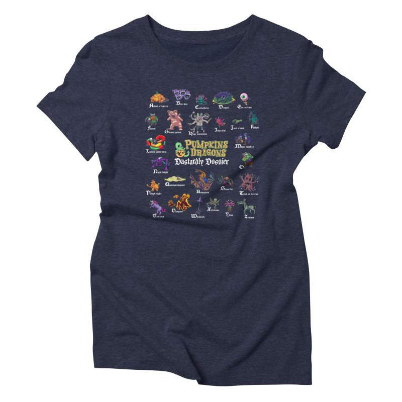 Dastardly Dossier A-Z Women's T-Shirt by Manning Krull's Artist Shop