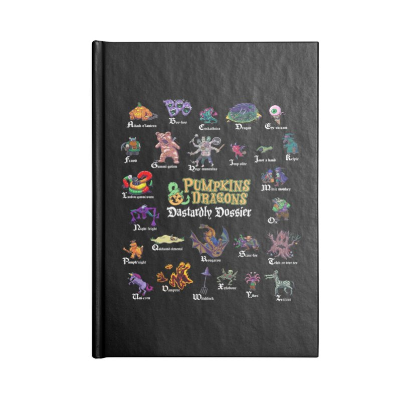 Dastardly Dossier A-Z Accessories Notebook by Manning Krull's Artist Shop