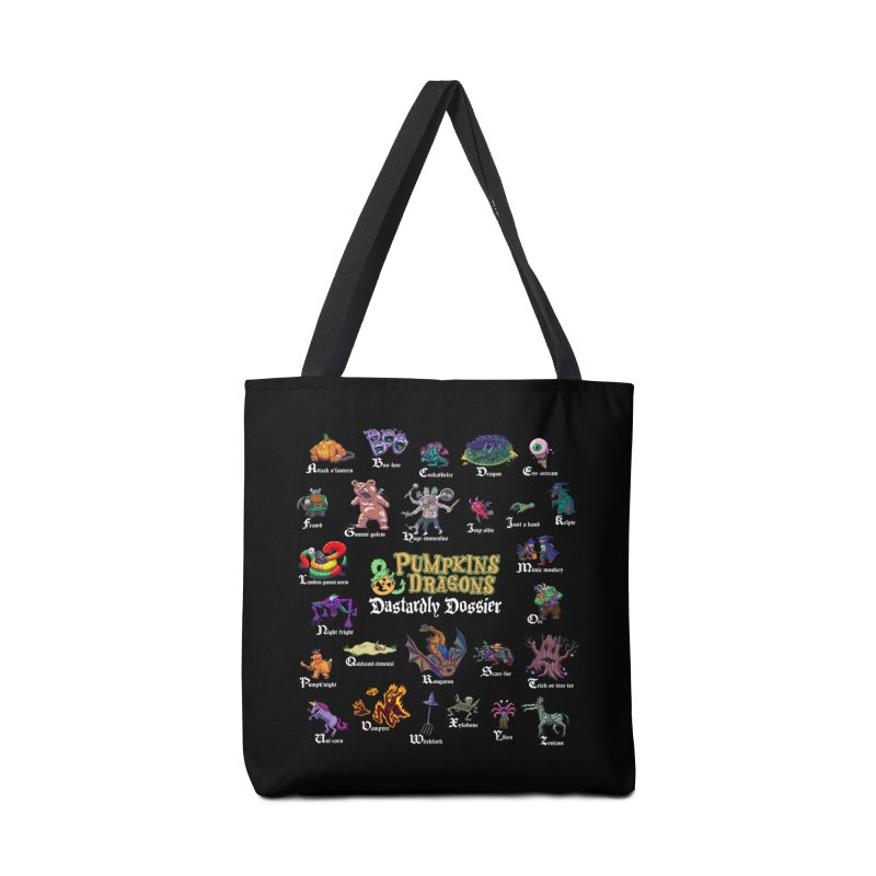 Dastardly Dossier A-Z Accessories Bag by Manning Krull's Artist Shop