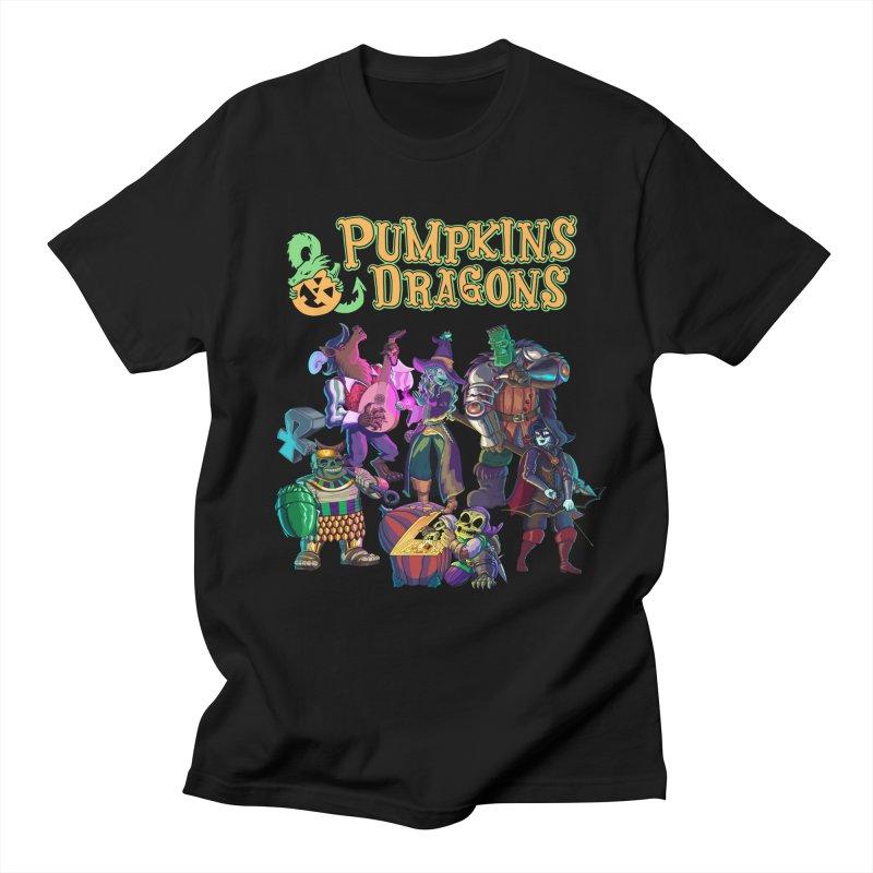 Pumpkins & Dragons adventuring party Men's T-Shirt by Manning Krull's Artist Shop