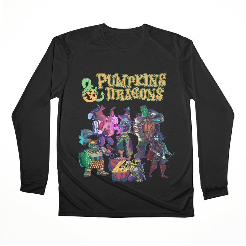 Pumpkins & Dragons adventuring party Women's Longsleeve T-Shirt by Manning Krull's Artist Shop