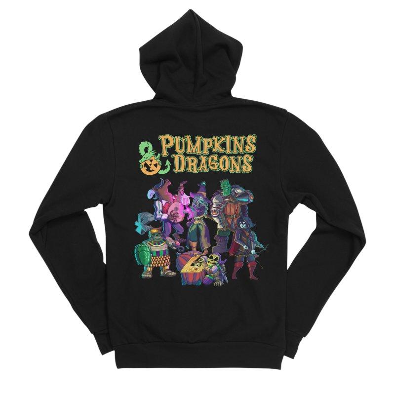 Pumpkins & Dragons adventuring party Women's Zip-Up Hoody by Manning Krull's Artist Shop