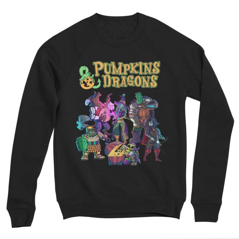 Pumpkins & Dragons adventuring party Men's Sweatshirt by Manning Krull's Artist Shop
