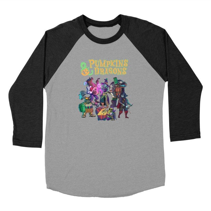 Pumpkins & Dragons adventuring party Men's Longsleeve T-Shirt by Manning Krull's Artist Shop