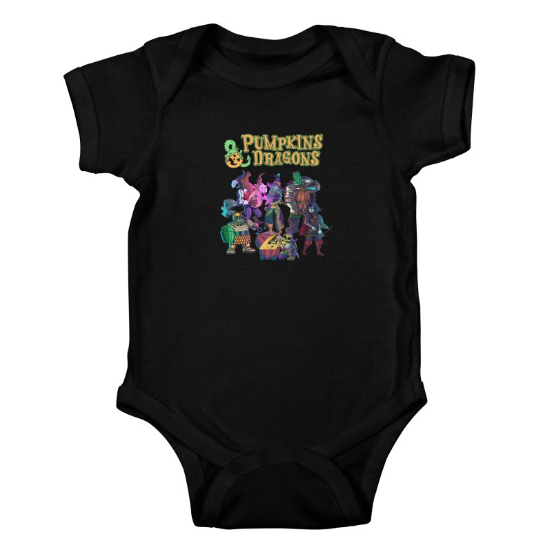 Pumpkins & Dragons adventuring party Kids Baby Bodysuit by Manning Krull's Artist Shop