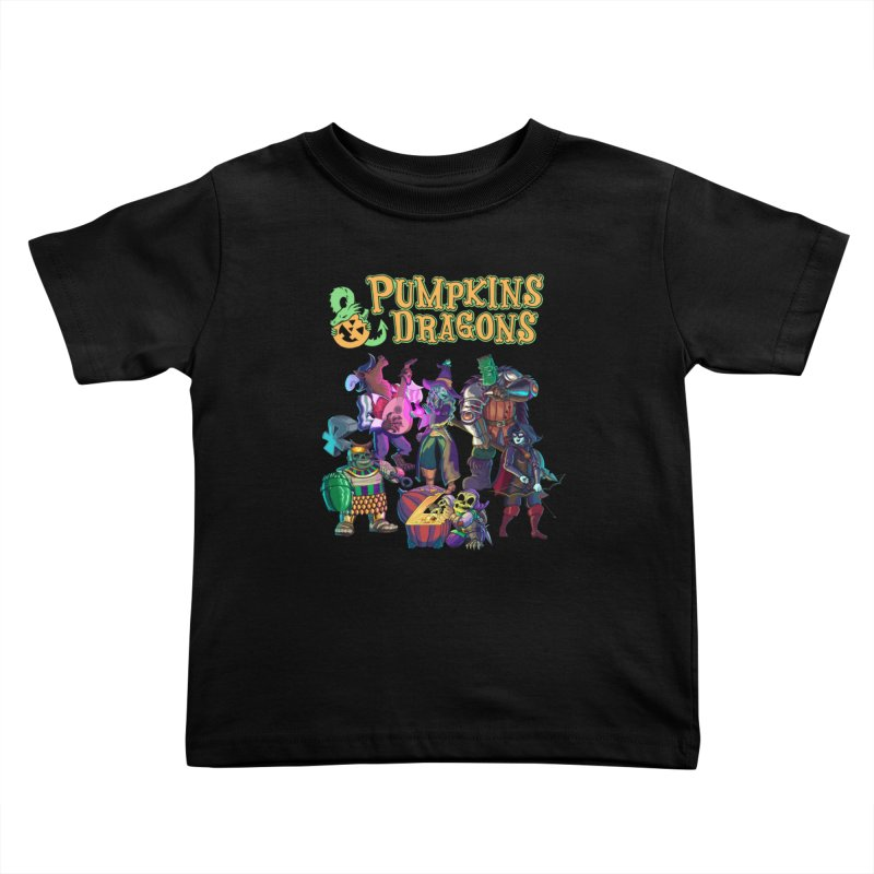 Pumpkins & Dragons adventuring party Kids Toddler T-Shirt by Manning Krull's Artist Shop