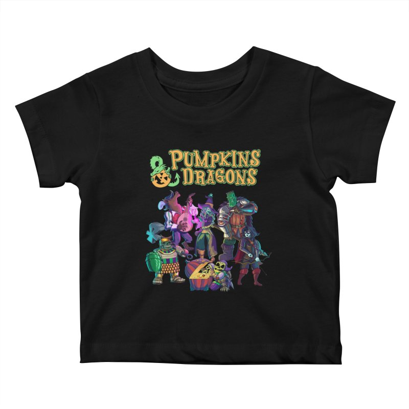 Pumpkins & Dragons adventuring party Kids Baby T-Shirt by Manning Krull's Artist Shop