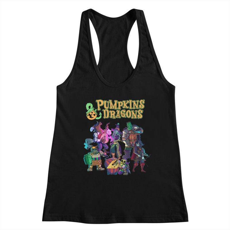 Pumpkins & Dragons adventuring party Women's Tank by Manning Krull's Artist Shop
