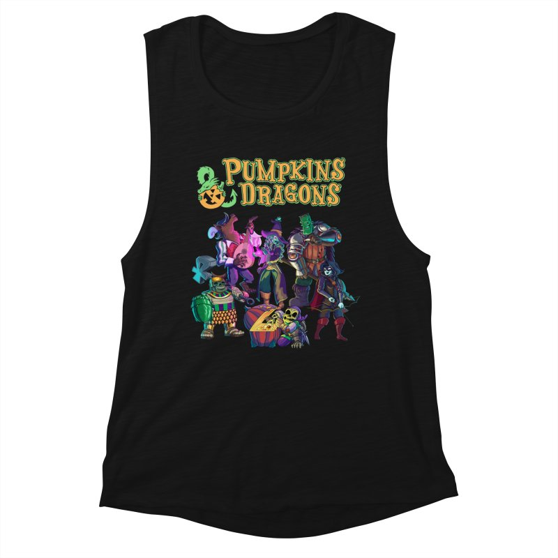 Pumpkins & Dragons adventuring party Women's Tank by Manning Krull's Artist Shop