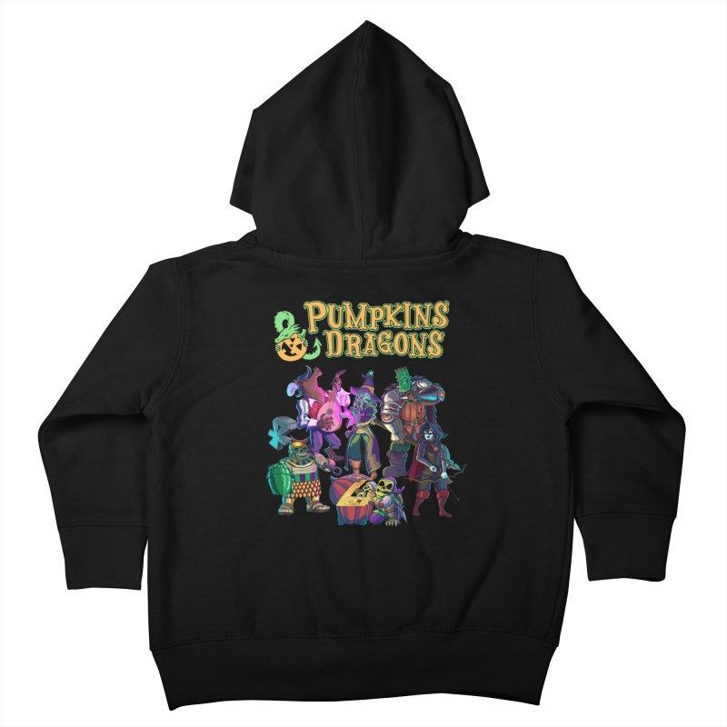 Pumpkins & Dragons adventuring party Kids Toddler Zip-Up Hoody by Manning Krull's Artist Shop