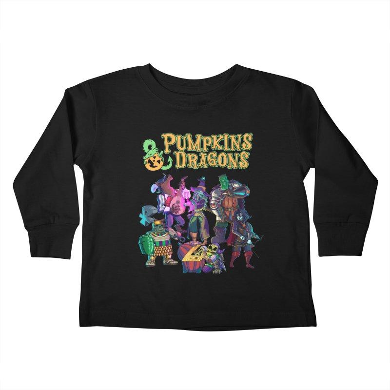 Pumpkins & Dragons adventuring party Kids Toddler Longsleeve T-Shirt by Manning Krull's Artist Shop