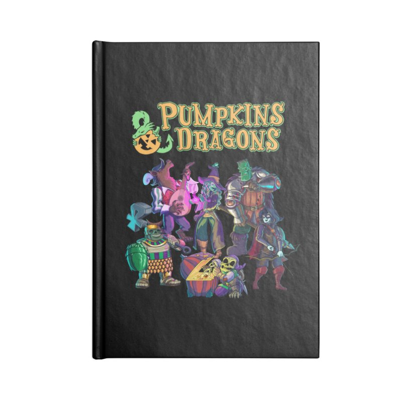 Pumpkins & Dragons adventuring party Accessories Notebook by Manning Krull's Artist Shop