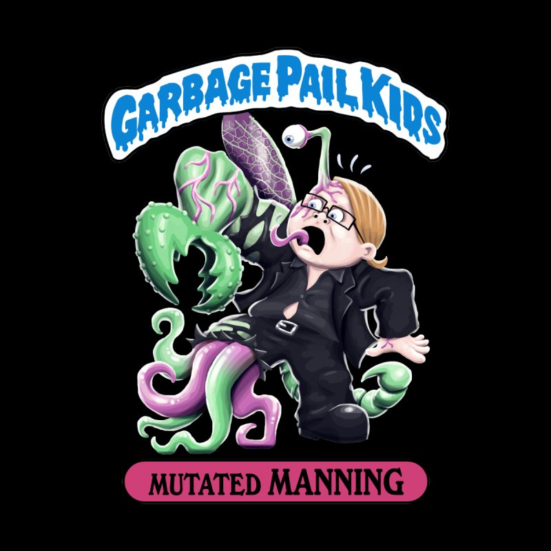 Garbage Pail Kids Mutated Manning Women's Zip-Up Hoody by Manning Krull's Artist Shop
