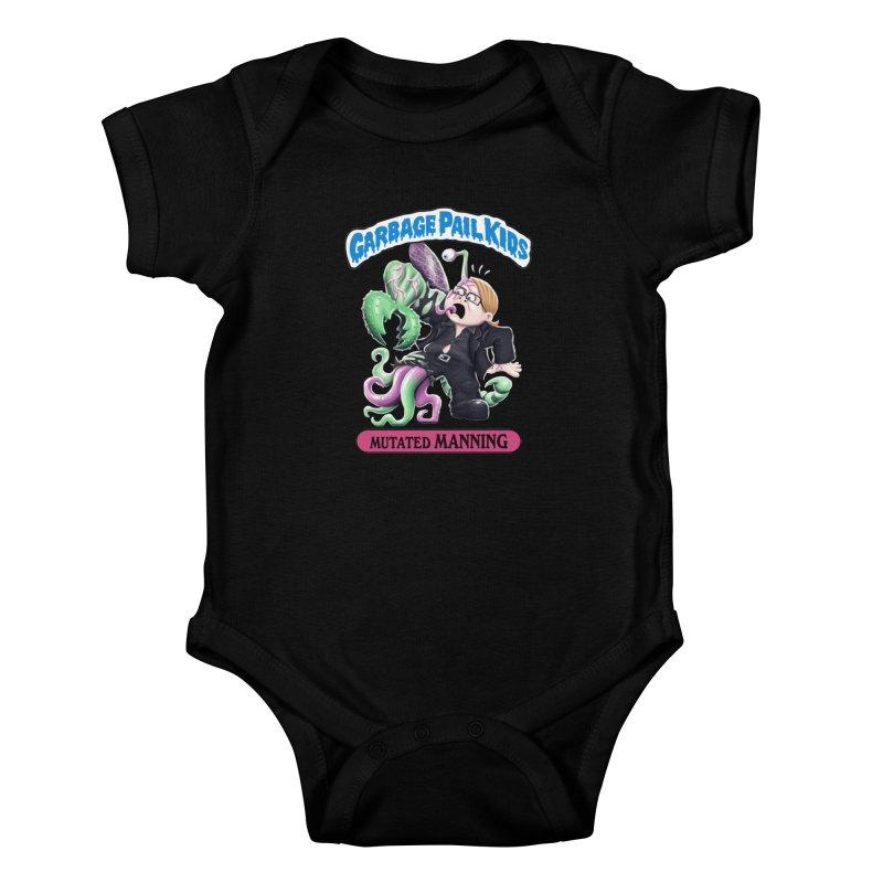 Garbage Pail Kids Mutated Manning Kids Baby Bodysuit by Manning Krull's Artist Shop