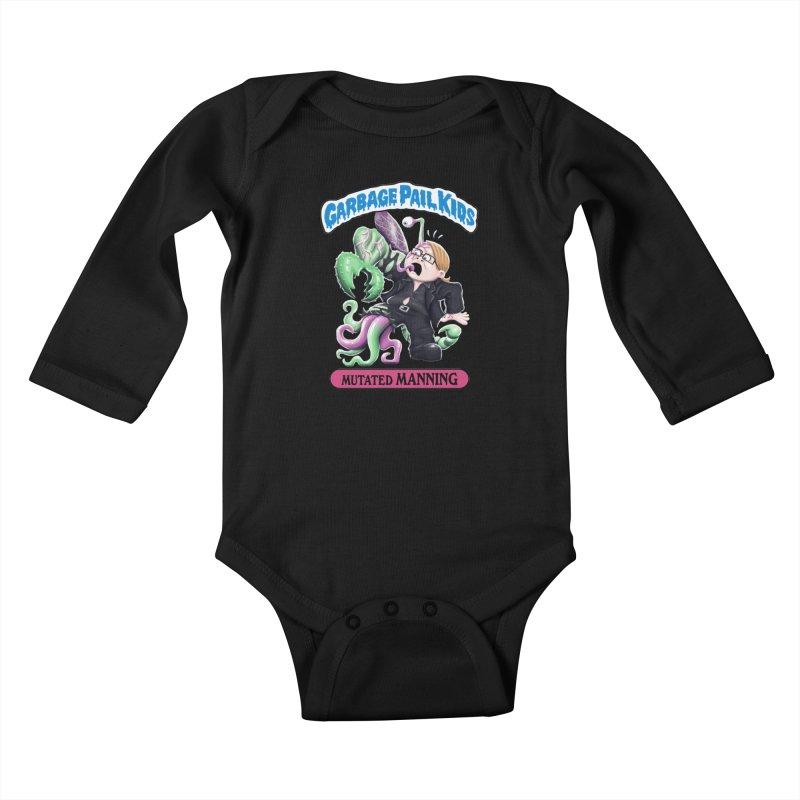 Garbage Pail Kids Mutated Manning Kids Baby Longsleeve Bodysuit by Manning Krull's Artist Shop