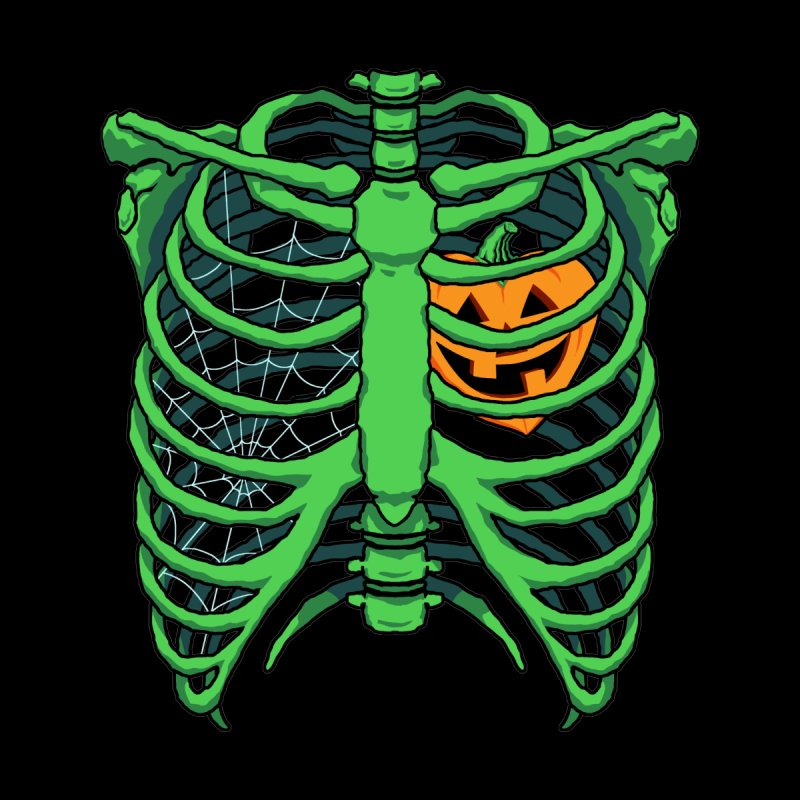 Halloween in my heart - green Men's T-Shirt by Manning Krull's Artist Shop