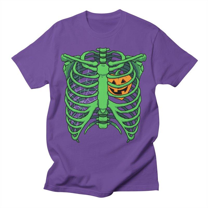 Halloween in my heart - green Men's T-Shirt by Manning Krull's Artist Shop